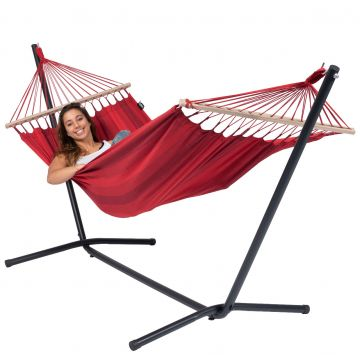 Hamac Sur Pied Single Easy & Relax Red