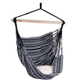 Hangstoel Comfort Black White