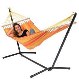Hängematteset Single Easy & Relax Orange