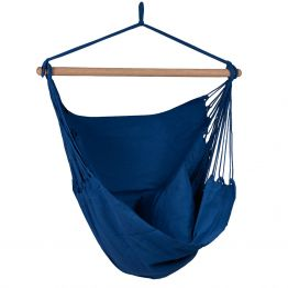 Hammock Chair Organic Blue