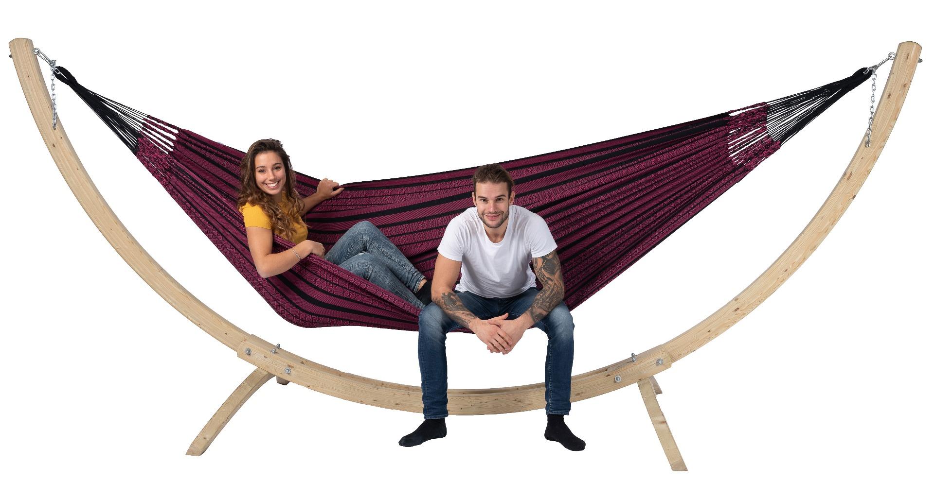 Hangmatset Family 'Wood & Black Edition' Rose - Tropilex �