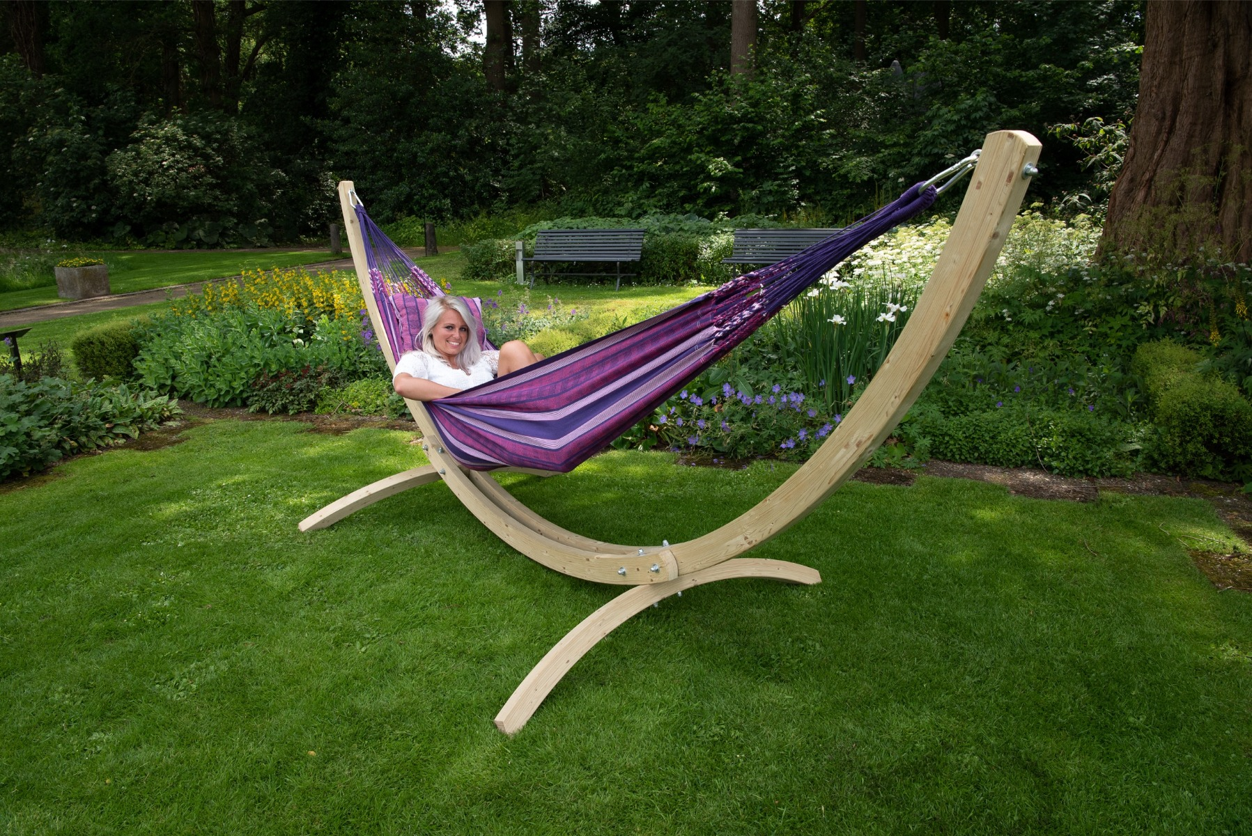 Hangmatset Double 'Wood & Chill' Love - Tropilex �