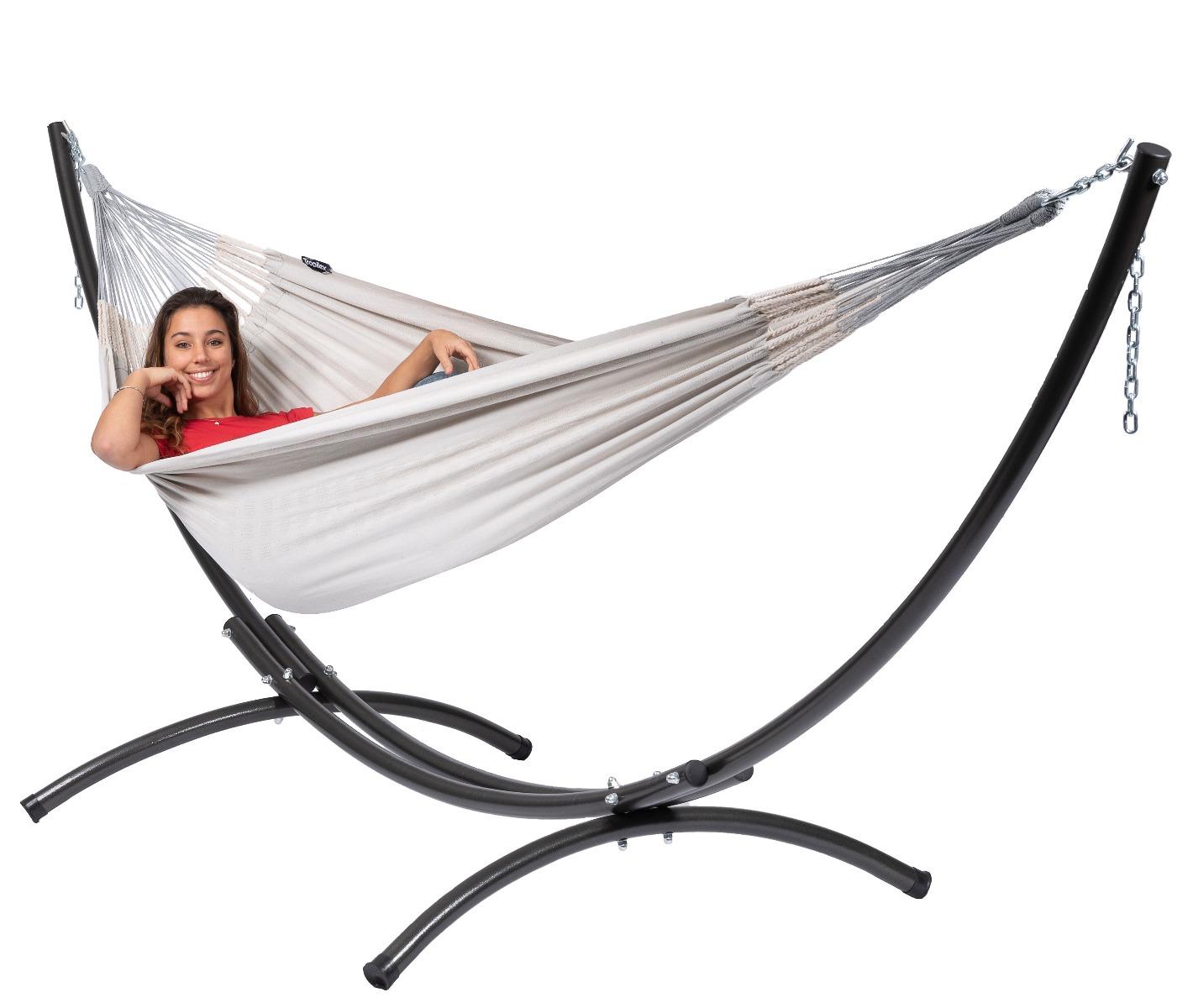 Hangmatset Double 'Arc & Comfort' Pearl - Tropilex �