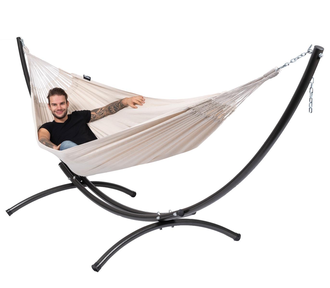 Hangmatset Double 'Arc & Comfort' White - Tropilex ®
