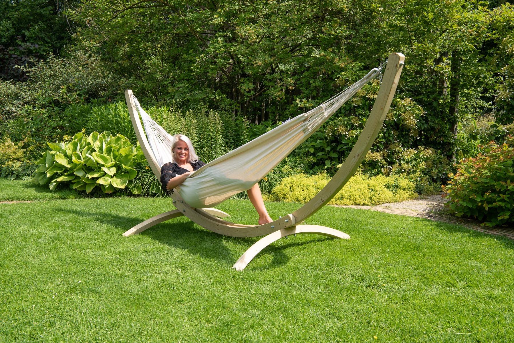 Hangmatset Double 'Wood & Comfort' White - Tropilex �