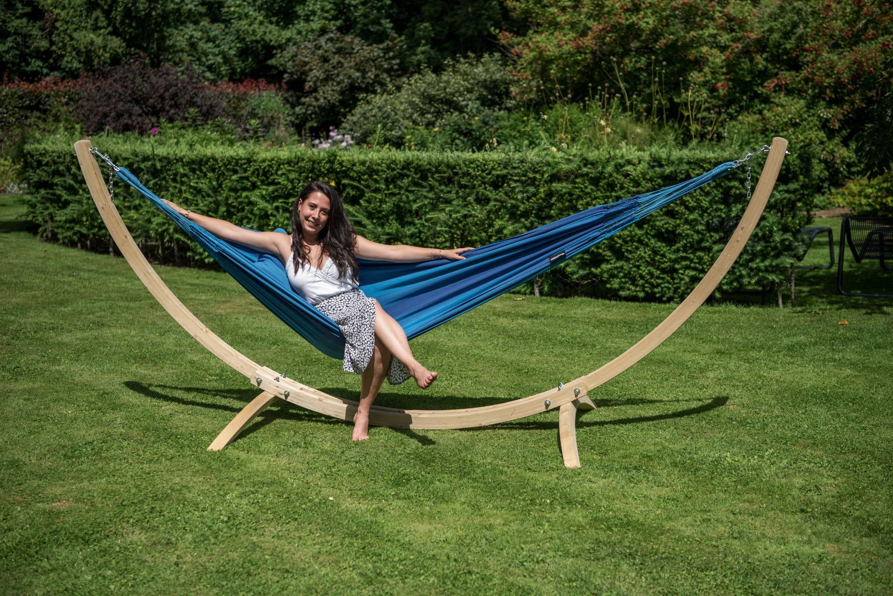 Hangmatset Single 'Wood & Dream' Blue - Tropilex �