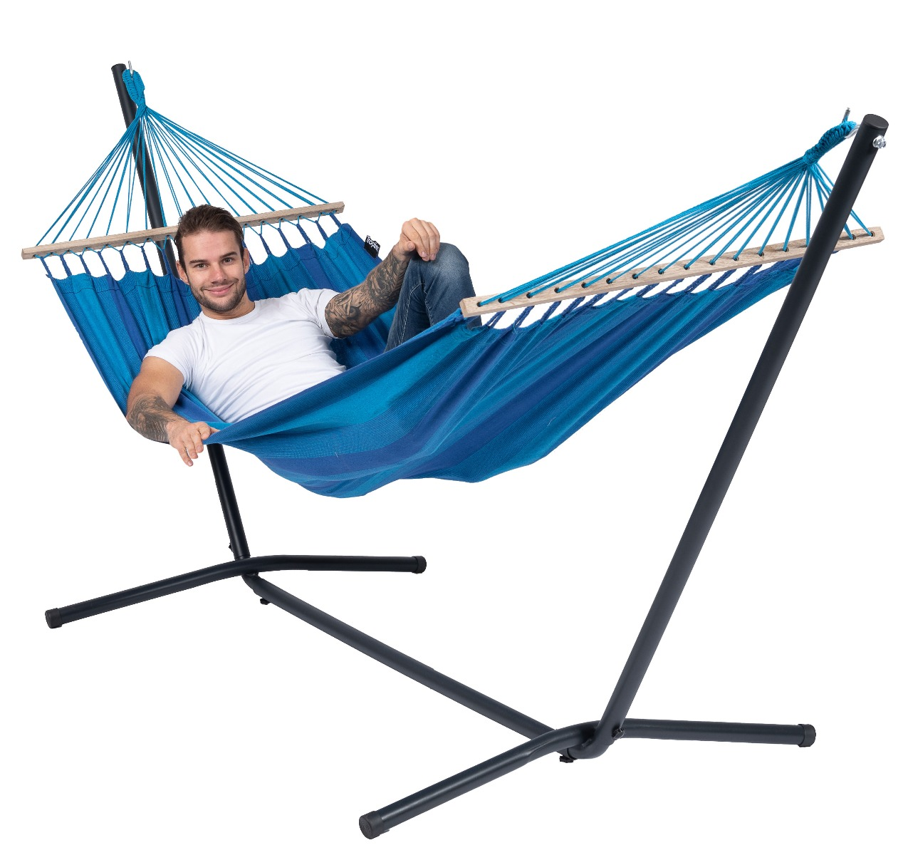 Hangmatset Single 'Easy & Relax' Blue - Tropilex �