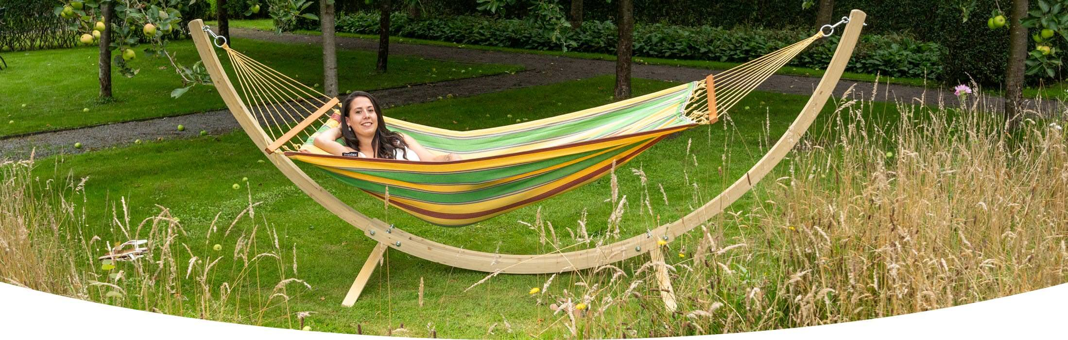 Hammock Haïti with hammock stand Wood