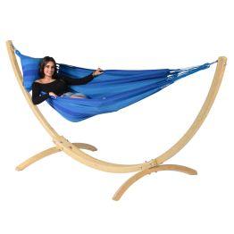 Hängmatta Enkel med Ställning Wood & Dream Blue