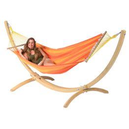 Hängmatta Enkel med Ställning Wood & Relax Orange