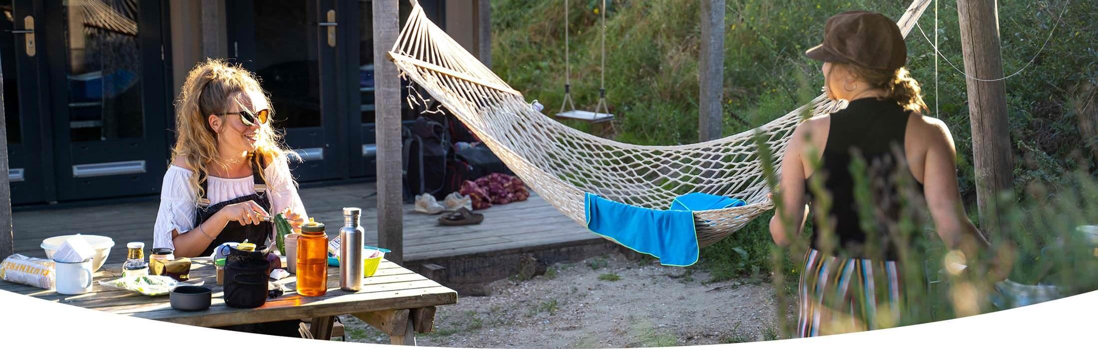 Hängmattor för campingplatser och B&B