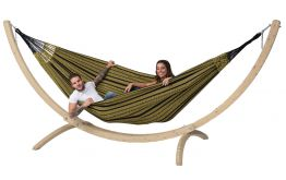 Hammock Set Family Wood & Black Edition Gold