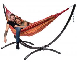 Hammock Set Double Arc & Chill Happy
