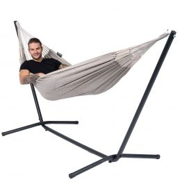 Hammock Set Single Easy & Natural Brown