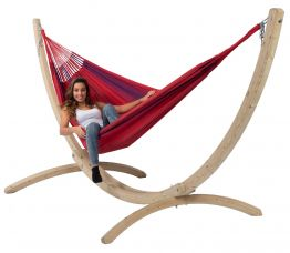 Hammock Set Family Wood & Refresh Bordeaux