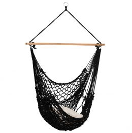 Hammock Chair Rope Black