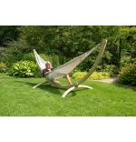 Hammock Set Double Wood & Comfort White
